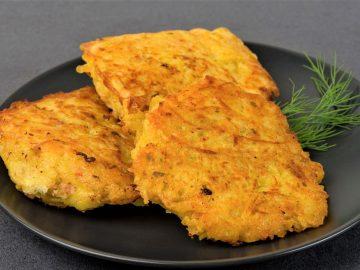 Kartupeļu pankūkas ar vistas gaļu
