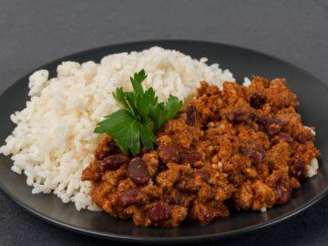 Chilli con carne ar rīsiem