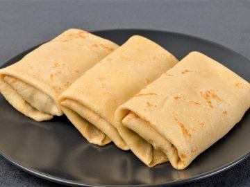 Pankūkas ar šķiņķa un siera pildījumu